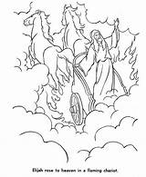 Elijah Coloring Pages Chariot Heaven Bible Taken Fire Story Altar Clipart Burning Adults Sunday Sheets Crafts Elisha Army Template Honkingdonkey sketch template