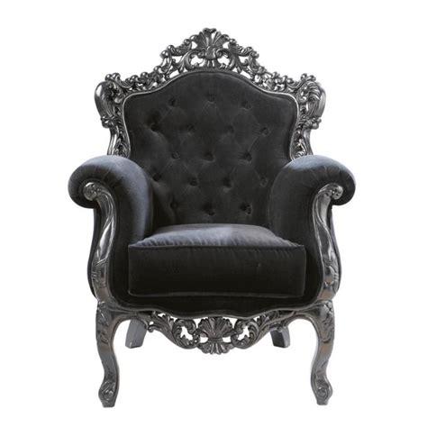 lustre chambre adulte fauteuil capitonné en velours noir barocco maisons du monde