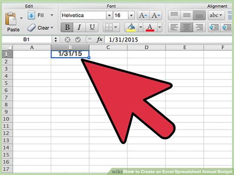 how to create an excel spreadsheet annual budget steps