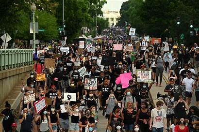 Today Racism America Protesters Capital Riot Thousands