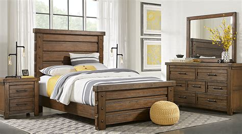 Rustic Haven Tobacco Pc King Panel Bedroom-king