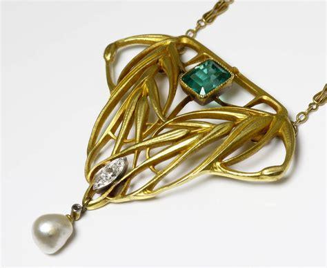 bijoux anciens nouveau collier pendentif or nouveau miault attr 224 bagues et