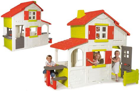 jouet cuisine maison duplex smoby cabane enfants plastique oogarden