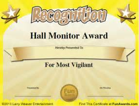 Funny Student Award Certificates