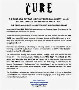 chain of flowers cure announce live dvds album trilogy With band press release template