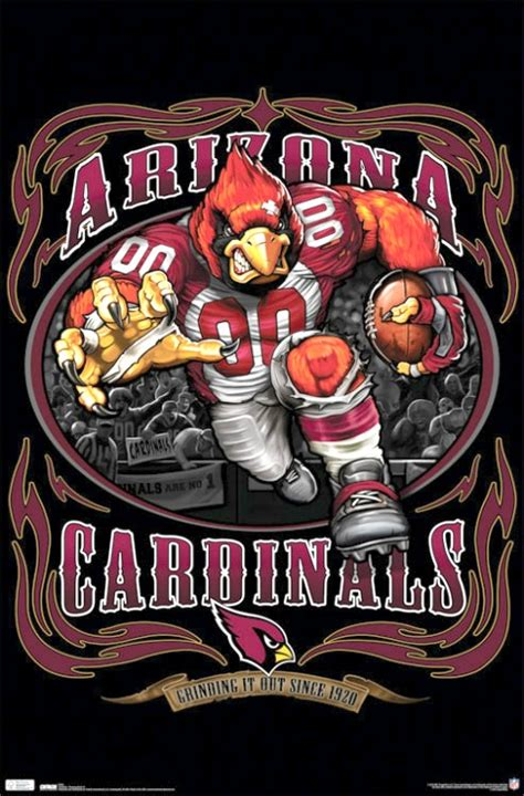 arizona cardinals football team runningback nfl logo print