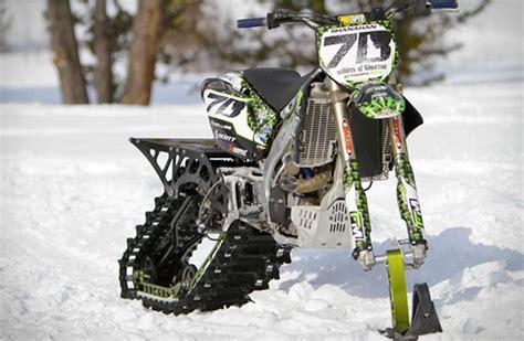 motocross snow bike dirt bike snow kit