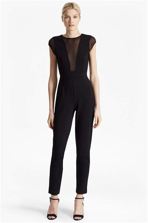 connection jumpsuit chiffon sleeveless jersey jumpsuit collections