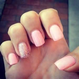 Gallery for gt simple pink acrylic nails