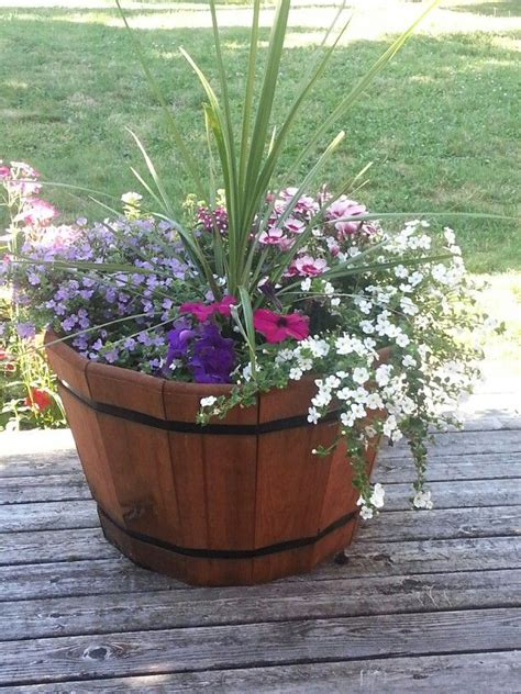 wine barrel planter ideas 8 wine barrel planter how tos guide patterns