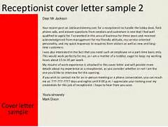 Cover Letter 42 Receptionist Cover Letter Examples Best Receptionist Cover Letter Examples LiveCareer Online Writing Lab Cover Letter For Receptionist At Hospital Professional Medical Receptionist Cover Letter Sample