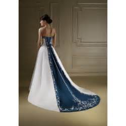 royal blue and white wedding dresses pics of blue and white strapless wedding dresses light baby royal navy blue wedding dresses