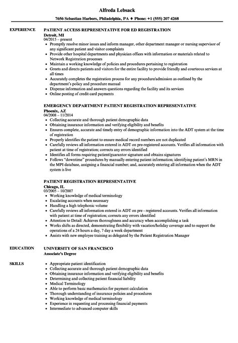 Patient Access Representative Resume by Patient Representative Resume Bijeefopijburg Nl