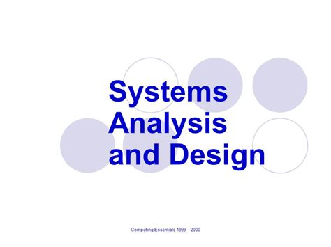 system analysis and design systems analysis and design ppt