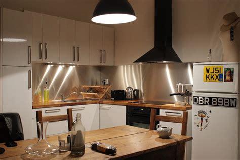 cuisine avec credence inox cr 233 dence de cuisine en inox bross 233 steel mag
