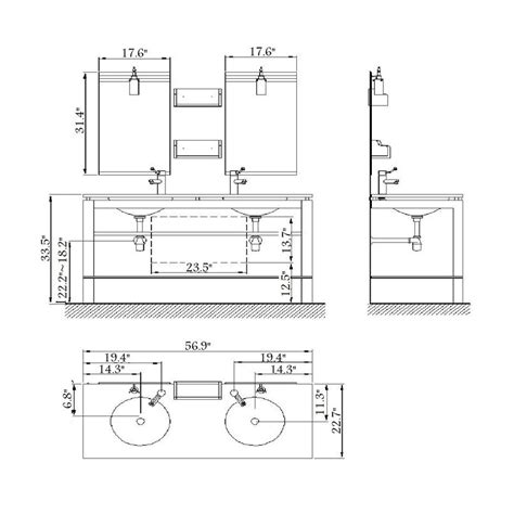 What Is The Standard Height Of A Bathroom Great Bathroom Vanity Dimensions Standard Outstanding