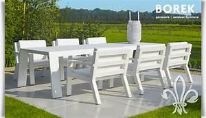 Gartenmöbel Weiß Holz : garten esstisch garnitur viking von borek ~ Whattoseeinmadrid.com Haus und Dekorationen