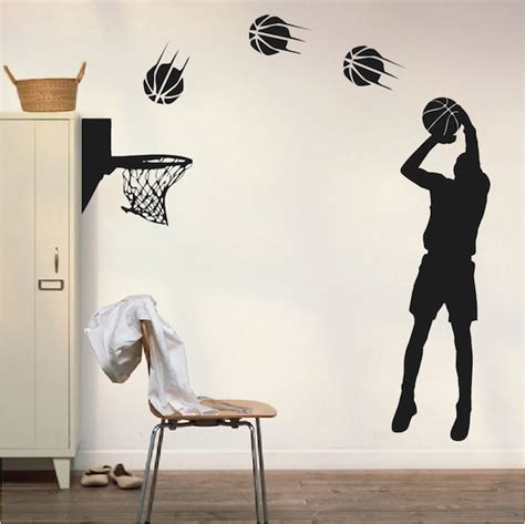Wall Applique by Basketball Player Wall Appliqu 233 Trendy Wall Designs