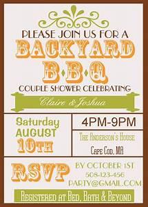 backyard bbq couple wedding shower invite fall theme With couples wedding shower themes