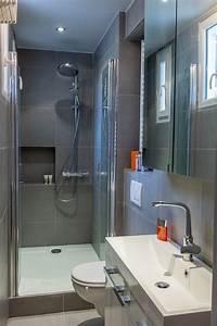 Une petite salle d39eau bien pensee salle de bains for Salle de bain design avec résine décorative pour sol