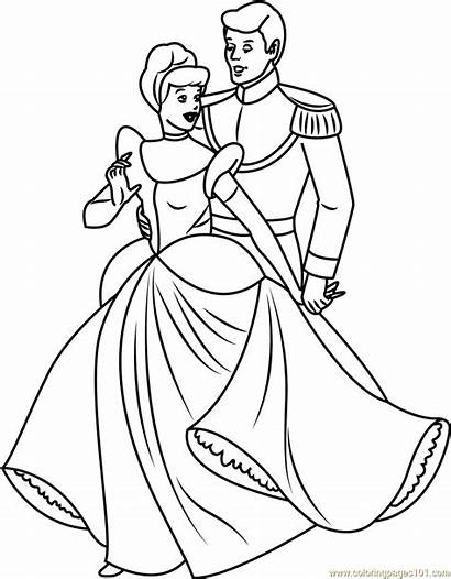 Cinderella Prince Coloring Drawing Pages Charming Printable