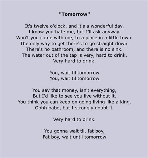 Best lyrics quotes love songs lyrics music lyrics music quotes music video song mp3 song music videos music mood mood songs. Silverchair lyrics, Tomorrow