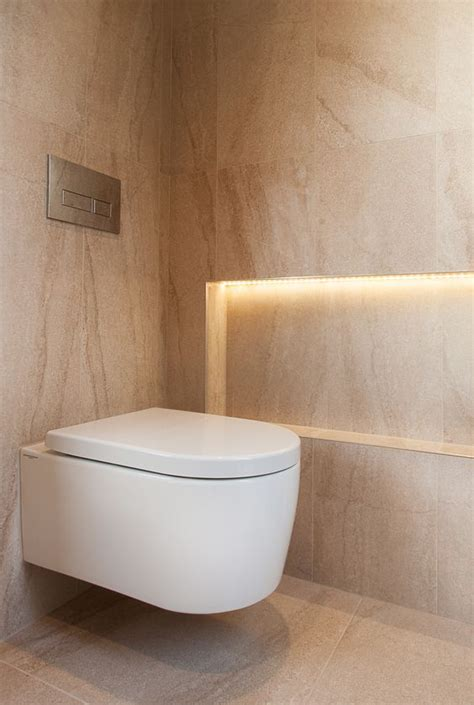 recessed niche with led lighting wall hung