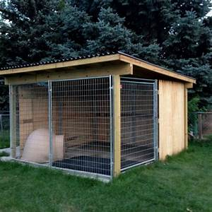 Kami39s new kennel awesome outdoor kennel for my crazy for Dog run outdoor kennel house