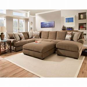 Corinthian 61b0 sectional sofa with right side chaise for Sectional sofa with right side chaise