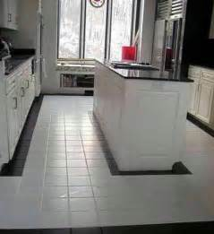 white clean kitchen designs with ceramic tile floor home