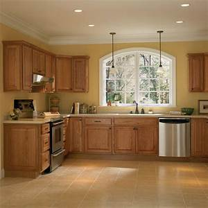 Casual Style Interior Kitchen Design with Solid Oak Wood