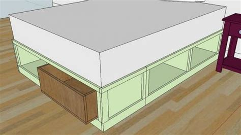 build queen bed frame  drawers plans plans woodworking  woodworking plans