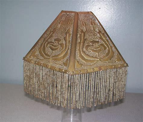 l shades with fringe antique pierced brass poppy l shade beaded fringe