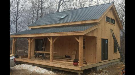 timber frame vermont cabin mortise  tenon  hemlock youtube