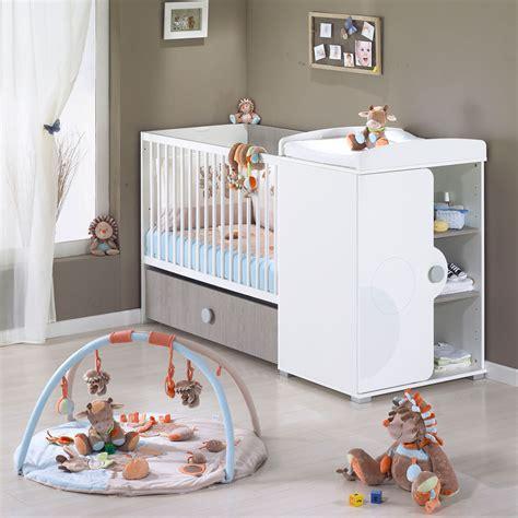 chambre bébé lola lola lit chambre transformable blanc 60x120 de sauthon