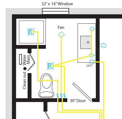 basement bathroom wiring electrical diy chatroom home