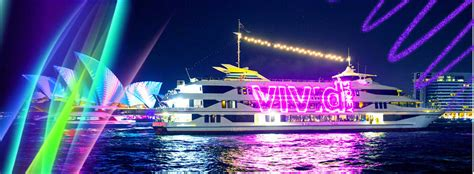 Cruise through sydney harbour in style on board a spacious flagship vessel that departs from circular quay and king street wharf. Vivid 7.30pm Dinner & Drinks - Captain Cook Cruises