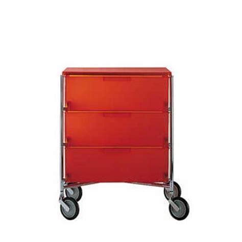 cassettiere kartell cassettiera mobil 3 cassetti con rotelle