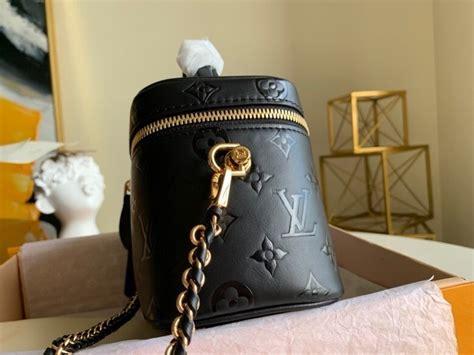 louis vuitton vanity case pm bag cm calfskin canvas fallwinter  collection  noir