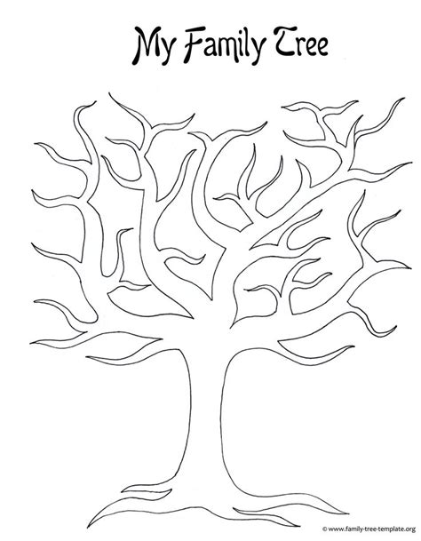 printable family tree template generation large blank