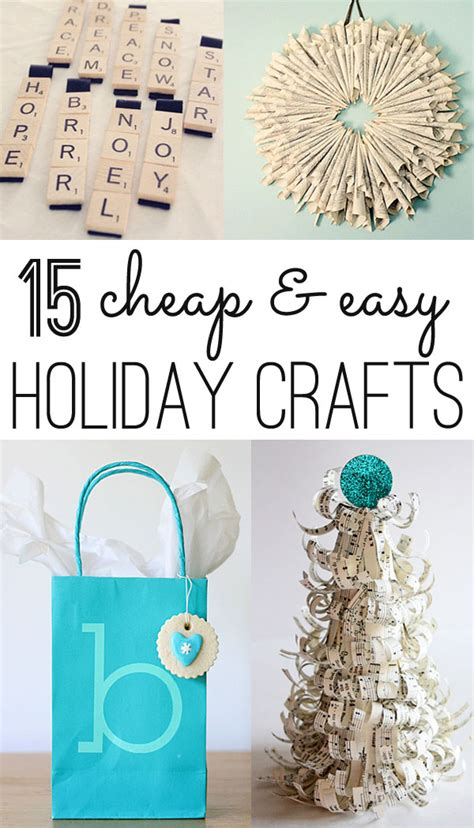 christmas crafts  cheap  easy ideas