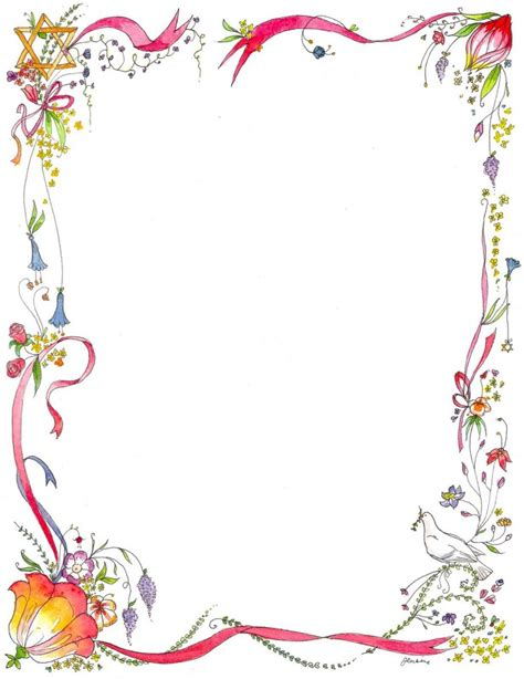 floral page border letter examples designs  clipart borders calimadufauxcom
