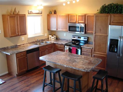 small l shaped kitchen with island ambleside transitional kitchen denver by castle 9353