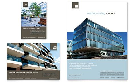 architect flyer ad template word publisher