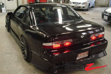 nissan s13 m style 50mm wide rear fenders frp coupe rocketz autosport