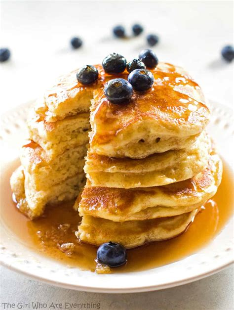 homemade fluffy pancakes breakfast recipe the who ate everything