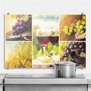Wandbilder Küche Glas : spritzschutz wein collage perfekt f r die k che wall ~ Whattoseeinmadrid.com Haus und Dekorationen