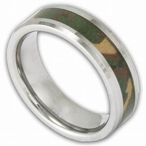 Women39s tungsten woodland camouflage wedding ring shop for Tungsten camo wedding rings
