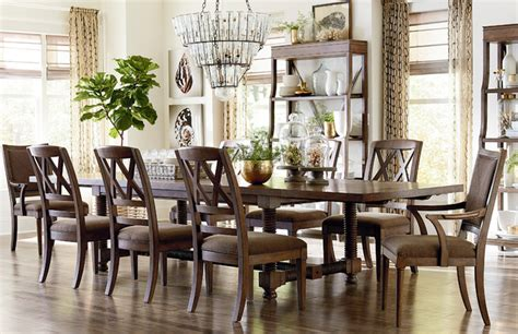 "Compass 104"" Trestle Dining Table By Bassett Furniture"