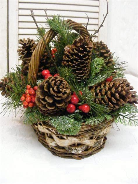 Pine Cone Basket  Holiday Decor Christmas Pinterest